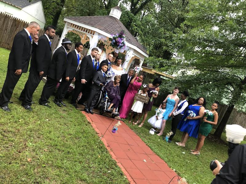 Peacock Themed Maryland Wedding