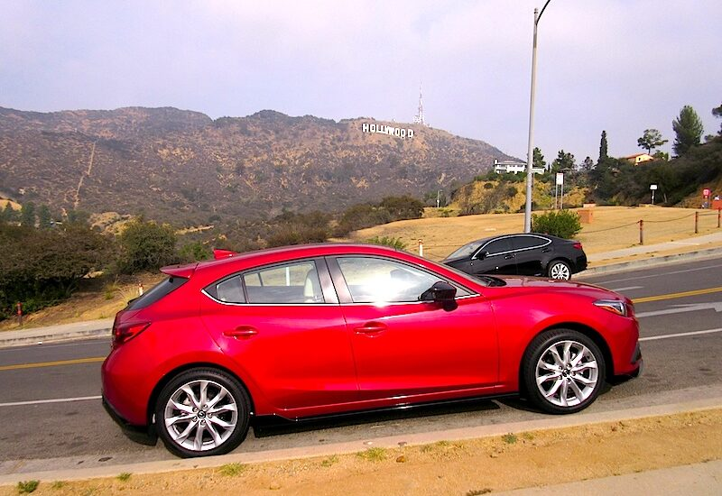 The Mazda 3 Shines in Hollywood, CA