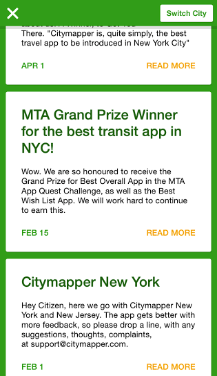 app of the month citymapper