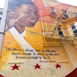 It is another Street Art Sunday.   Today's was captured by @joannateris who found this gem in Washington D.C. and created by @kaliqcustoms  If you don't know or remember who Amanda Gorman is she is the lovely young woman who recited beautiful poetry at the inuguration back in January.   #streetart #amandagorman #streerartsunday #washingtondc #dc #vibrantcolors #loveart #artofinstagram #streetarteverywhere #lovetravel #poet #blackgirlmagic